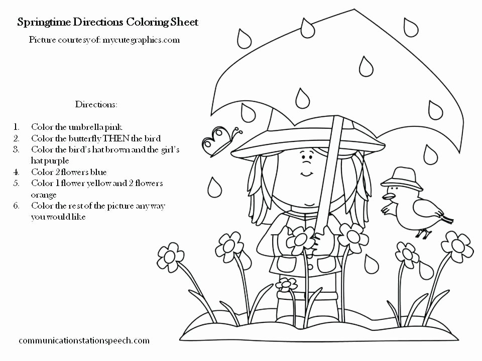 Following 2 Step Directions Worksheets How to Follow Directions Worksheet Following