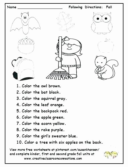 Following Directions Coloring Worksheet Auditory Processing Following Multi Step Directions