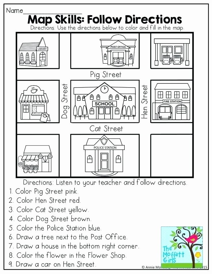 Following Directions Coloring Worksheet Direction Following Worksheets – Primalvape