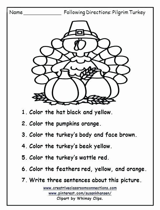 Following Directions Coloring Worksheet Following Direction Worksheets Teachers Pay Teachers Free