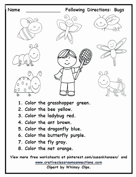 Following Directions Coloring Worksheet Multistep Directions Worksheets Following Multi Step