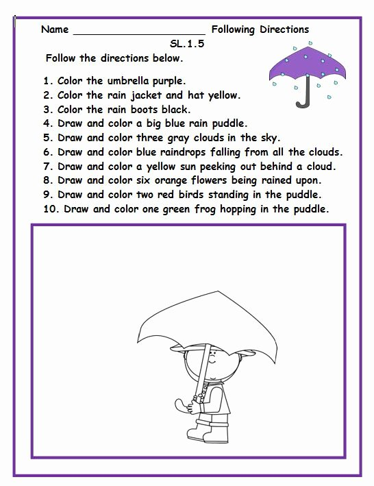 Following Directions Coloring Worksheet Tracy Julien Tracyjulien1800 On Pinterest