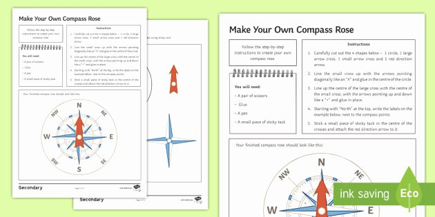 Following Directions Printables Make Your Own Pass Rose Worksheet Twinkl