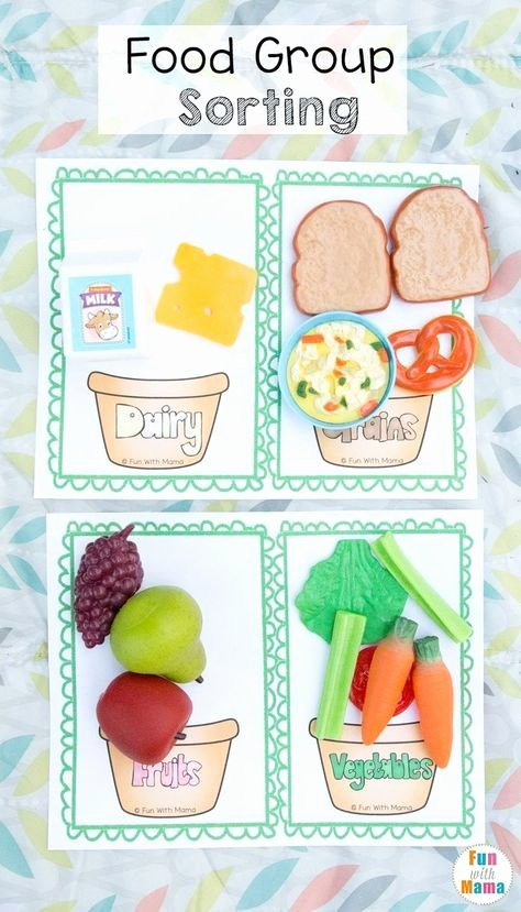 Food Group Worksheets Picnic Pretend Play for Preschoolers