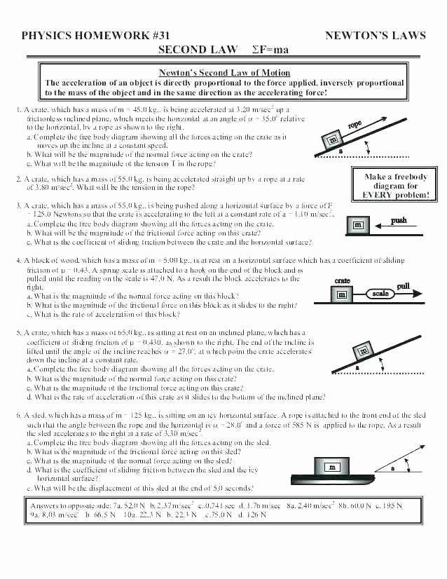 Force and Motion Printable Worksheets force Worksheets for 2nd Grade