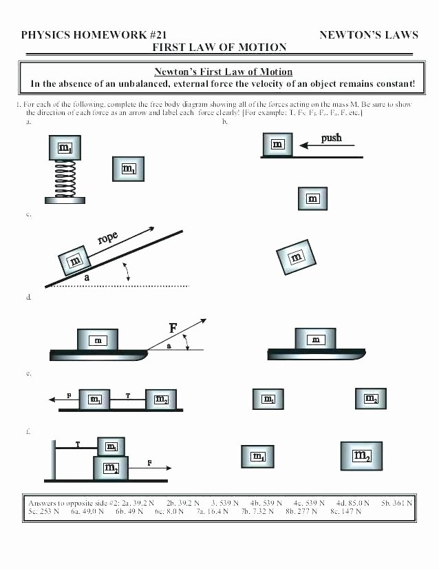 Force and Motion Printable Worksheets Worksheets On force and Motion – Primalvape