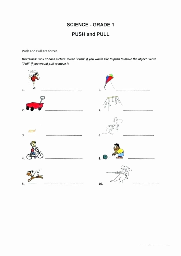 Force Motion and Energy Worksheets force and Motion Worksheets with Answers forces Energy