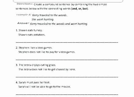 Four Kinds Of Sentences Worksheets Simple Sentences to Pound Sentences Worksheets Pound