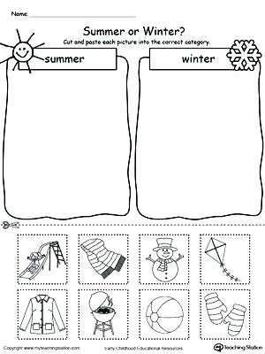 Four Seasons Kindergarten Worksheets Four Seasons Kindergarten Worksheets