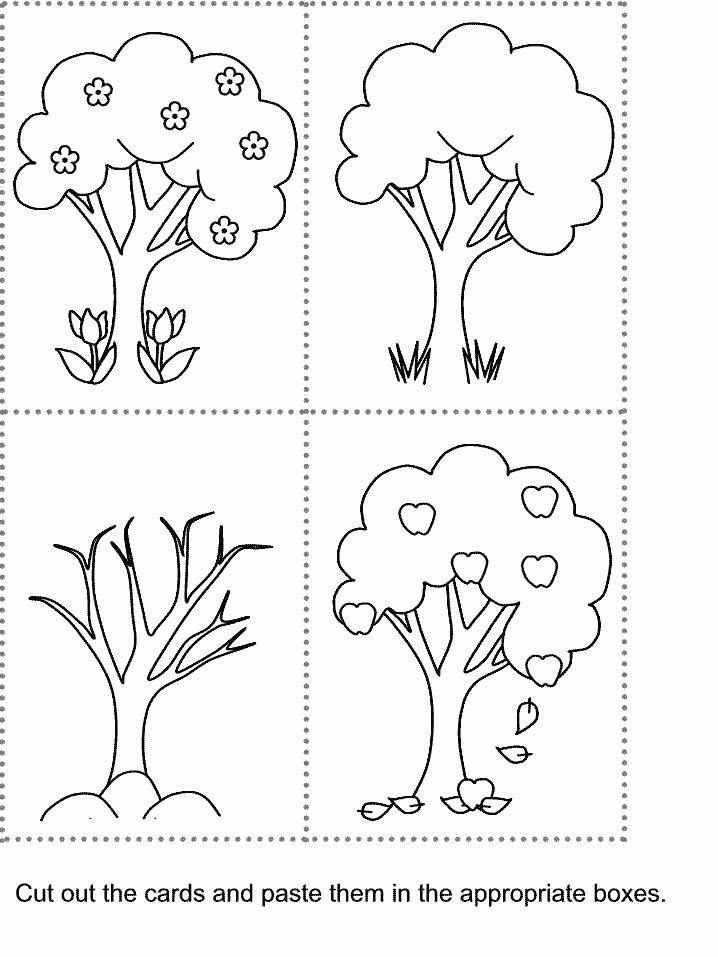 Four Seasons Kindergarten Worksheets Free Four Seasons Worksheets for Kindergarten – Newstalkfo