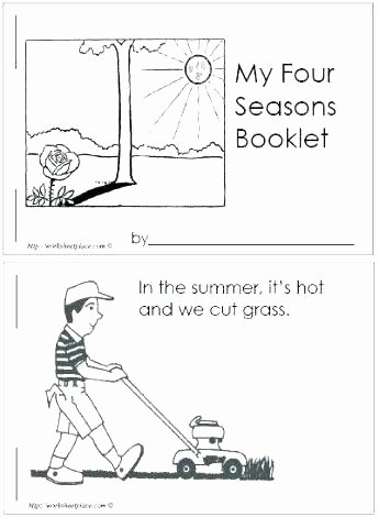 seasons worksheets for kindergarten spring season four booklet k printable summer s