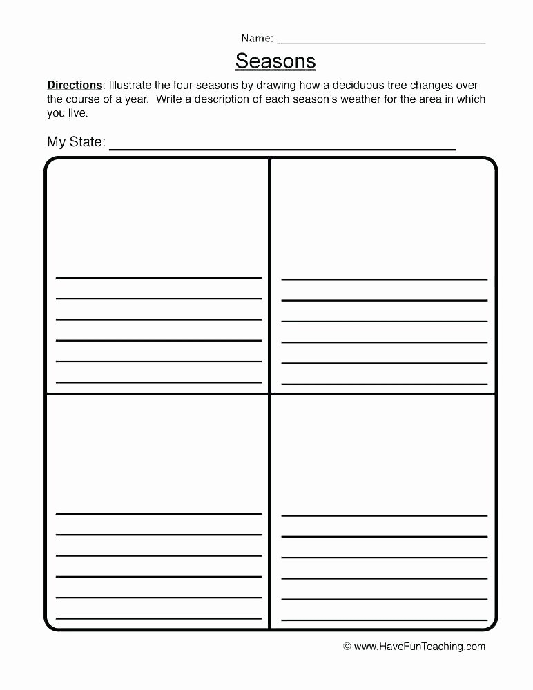 Four Seasons Kindergarten Worksheets Teaching Weather Free Printables Weather Printable Worksheets