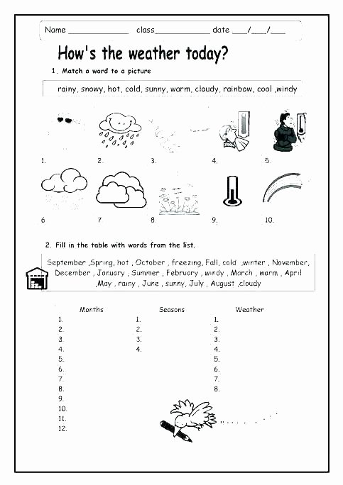 Four Seasons Kindergarten Worksheets Teaching Weather Worksheets About Seasons Kindergarten