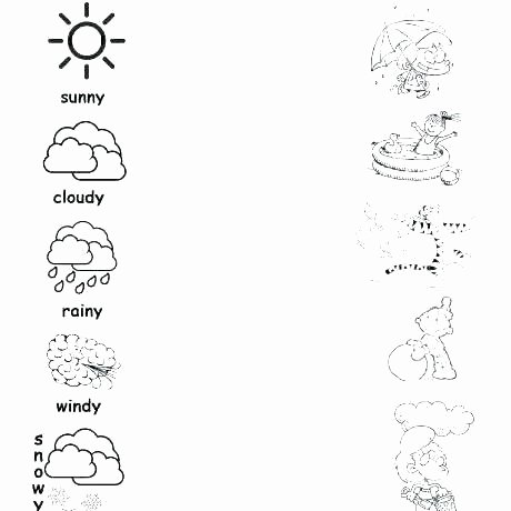 Four Seasons Kindergarten Worksheets Weather Worksheets for Kindergarten