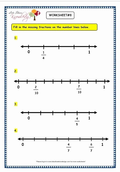 Fraction Number Line Worksheet Fractions A Number Line Worksheet Pdf