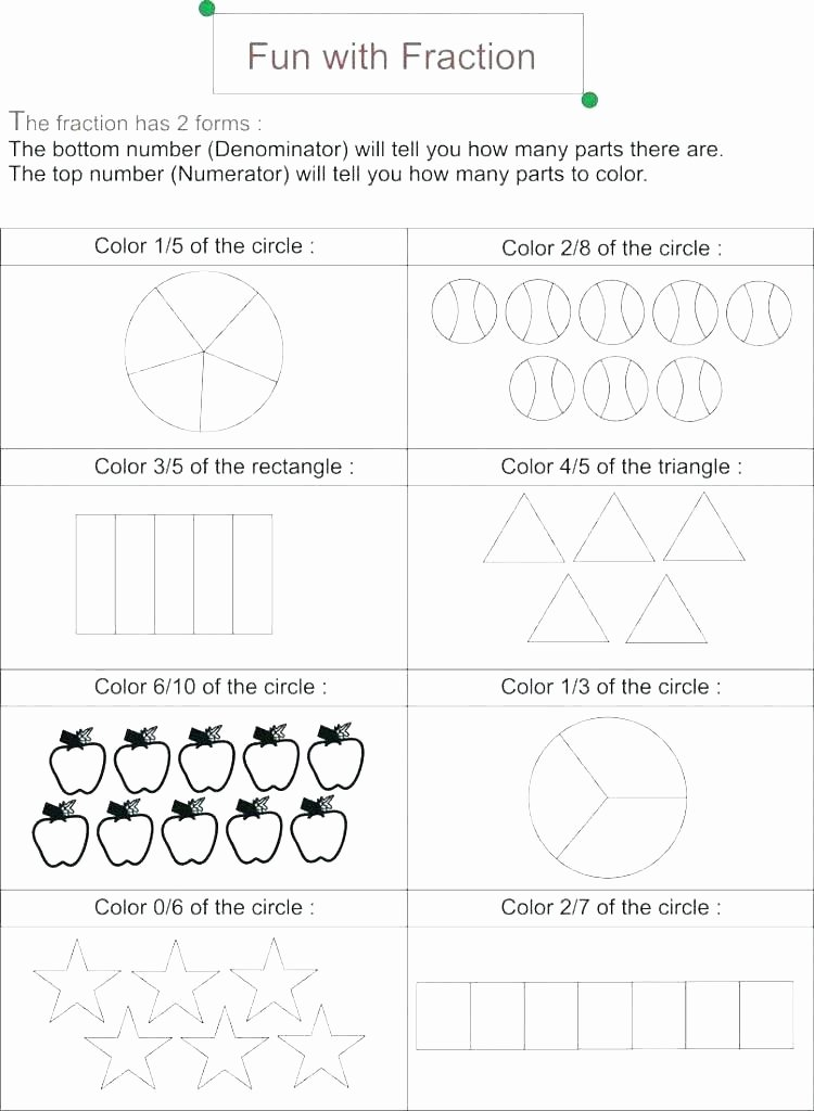 Fraction Puzzle Worksheets Color by Number Fractions Worksheets Back to School
