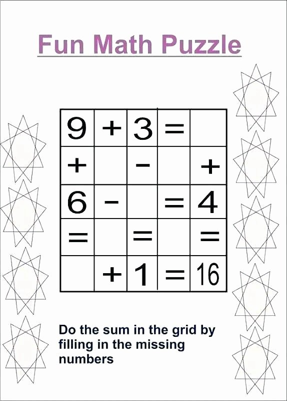 Fraction Puzzle Worksheets Math Puzzle Worksheets High School Logic Puzzles Pdf Fun for