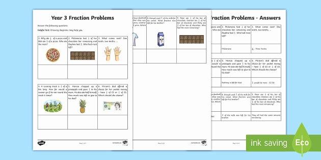 Fraction Puzzle Worksheets Year 3 Fraction Problems Worksheet Worksheet Learning