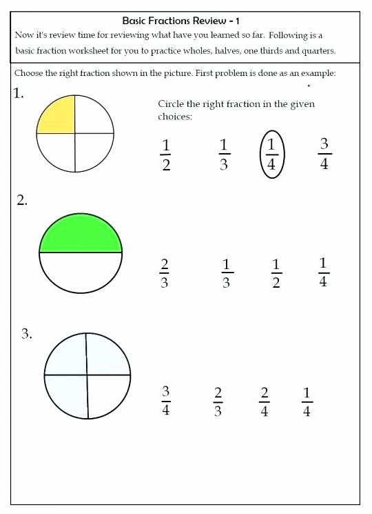 Fraction Worksheets First Grade Paring ordering Fractions Worksheets Printable Fraction