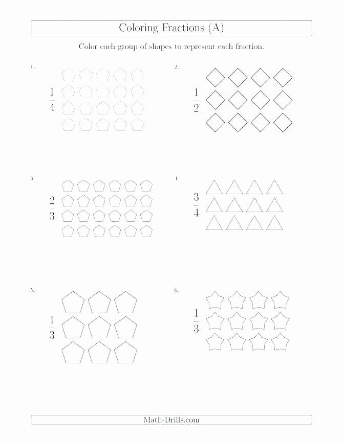 Fractions Worksheets 2nd Grade 2nd Grade Fractions Worksheets