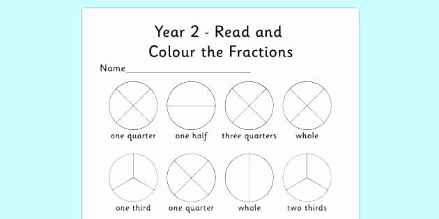 Fractions Worksheets 2nd Grade Fraction Worksheets for Grade 2