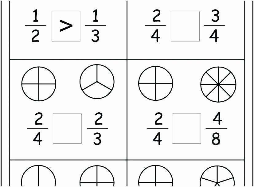 Fractions Worksheets First Grade Fraction Coloring Worksheets