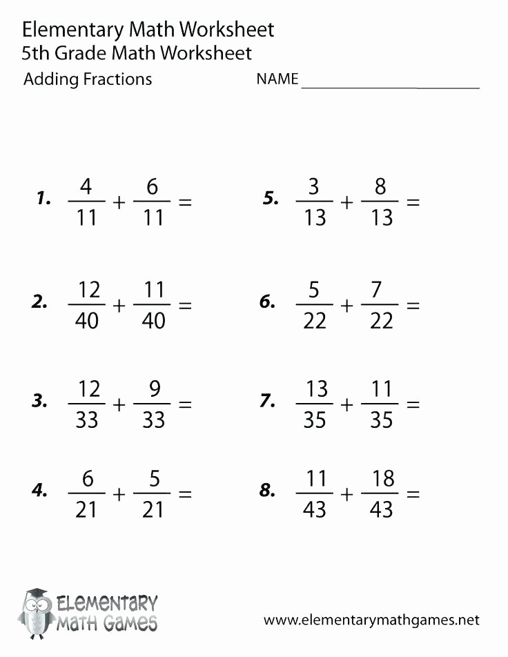Fractions Worksheets Grade 4 Pdf Grade Fractions Worksheets Math Free Printable Adding