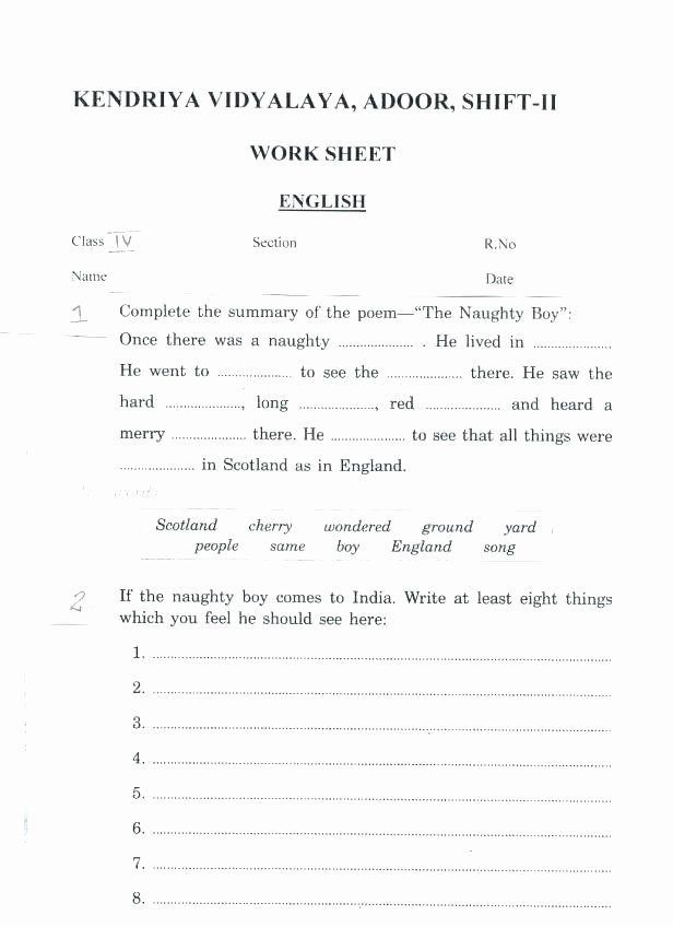Fractions Worksheets Grade 4 Pdf Worksheets Math for Grade 4 Maths Class Iv Fractions