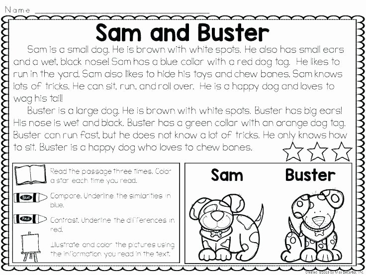 Free 1st Grade Comprehension Worksheets 1st Grade Literacy Worksheets Awesome Free Printable Reading