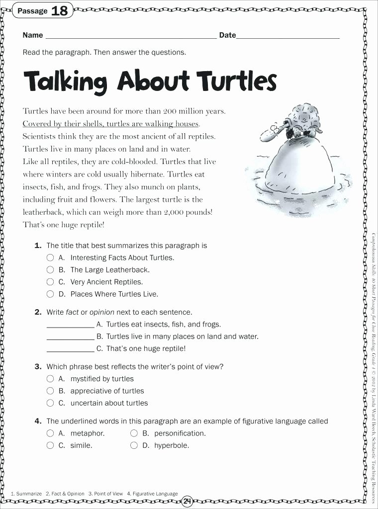 Free 2nd Grade Comprehension Worksheets Free Second Grade Prehension Worksheets Free 4th and 5th