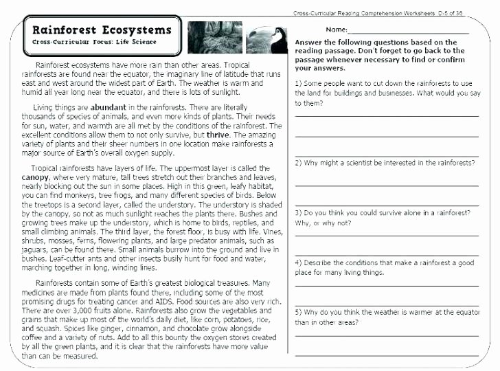 Free 6th Grade Science Worksheets Free Printable Fifth Grade Science Worksheets