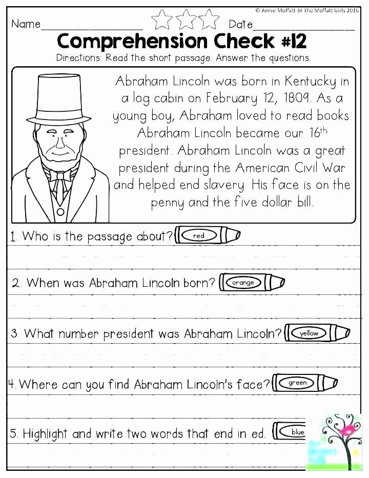 Free 7th Grade Reading Worksheets Reading Prehension Worksheets 7th Grade
