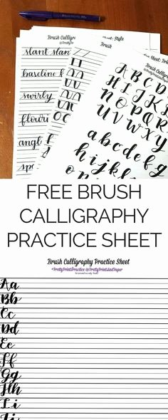 Free Calligraphy Worksheets Printable 57 Best Lettering Images