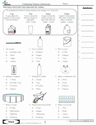 Free Capacity Worksheets Customary Capacity Worksheets for All Download and Free