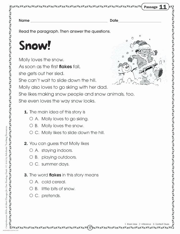 prehension worksheets unique a carol free free christmas reading prehension worksheets for 2nd grade christmas prehension worksheets free