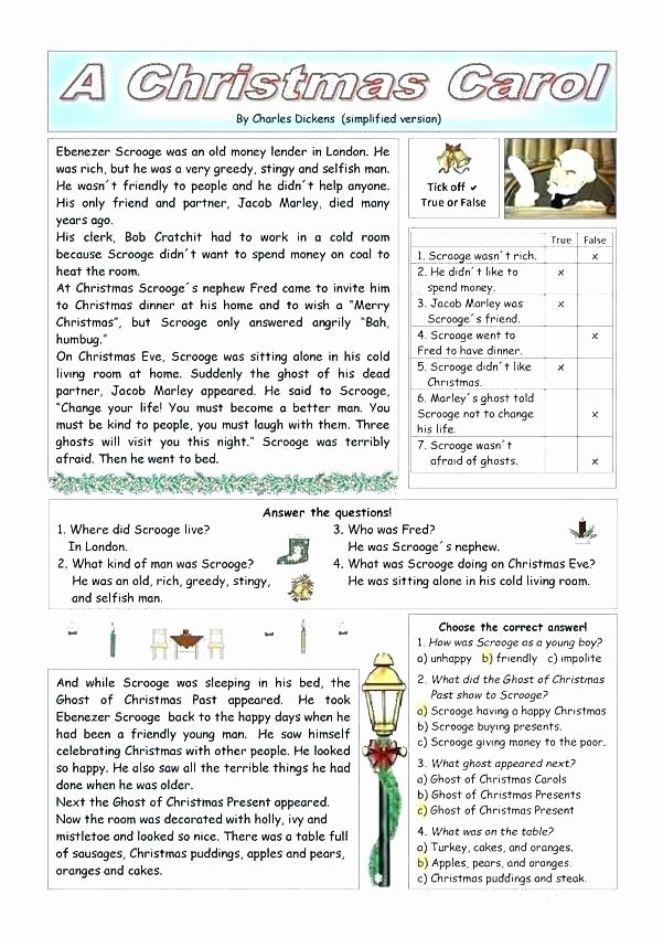 Free Christmas Reading Comprehension Worksheets Christmas Reading Prehension Worksheets