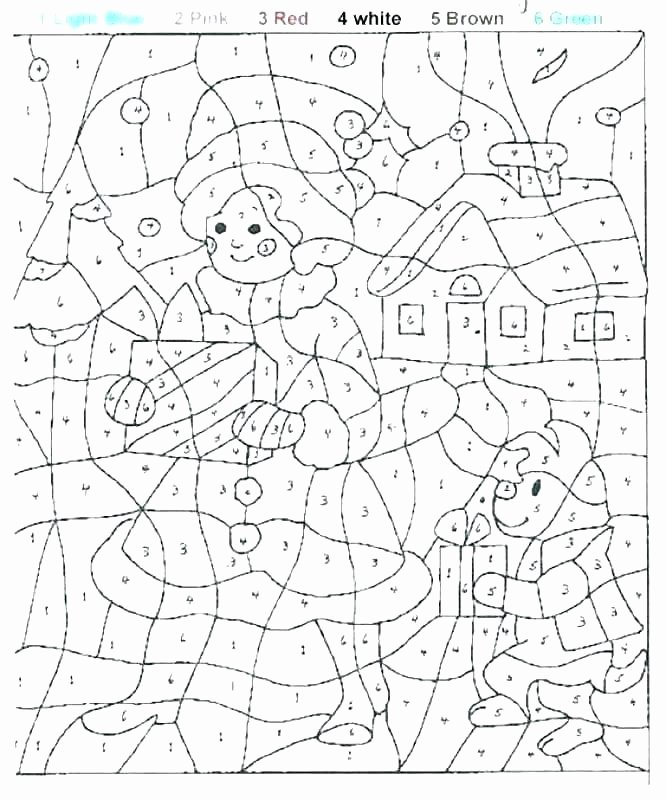 Free Color by Numbers Worksheets Color by Number Sheet – Johnsimpkins