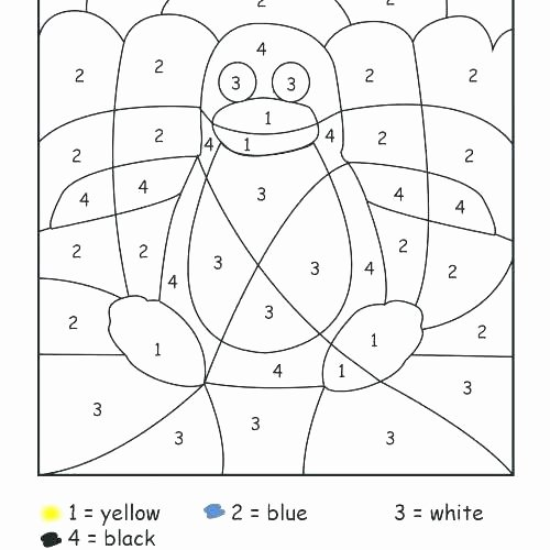 color by numbers worksheets additions colors printable coloring kindergarten number addition fre