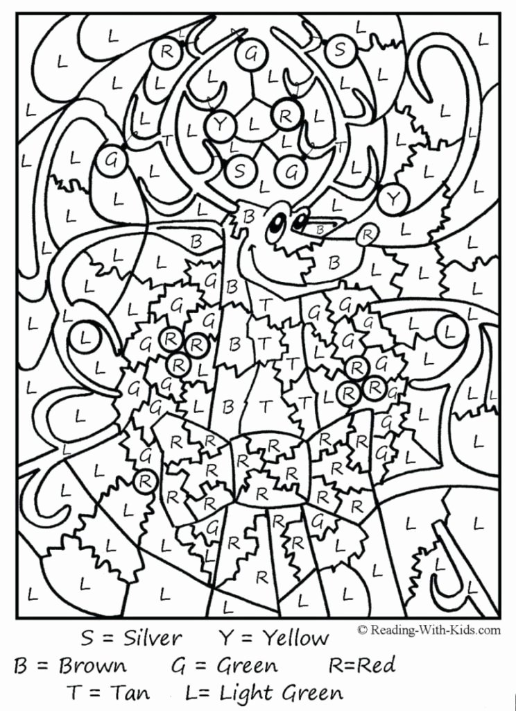 Free Color by Numbers Worksheets Coloring Pages to Color New Page Luxury Multiplication