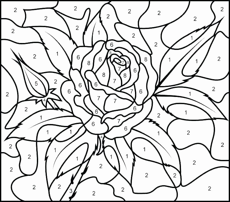 Free Color by Numbers Worksheets Hard Color by Number Coloring Pages – Thishouseiscooking