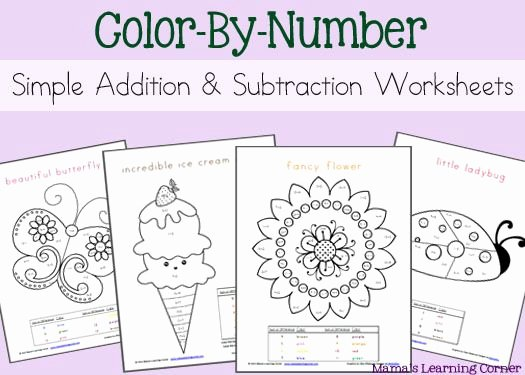 Free Color by Numbers Worksheets Simple Addition and Subtraction Color by Number Worksheets