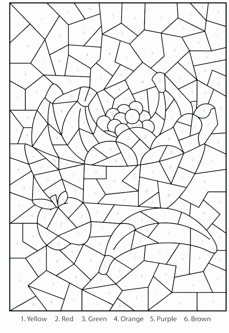 Free Color by Numbers Worksheets Spanish Color by Number Worksheets