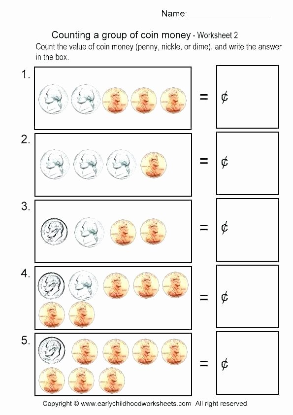 Free Counting Coins Worksheets Best Of Counting Money Worksheets Grade 2 Math Identifying Coins