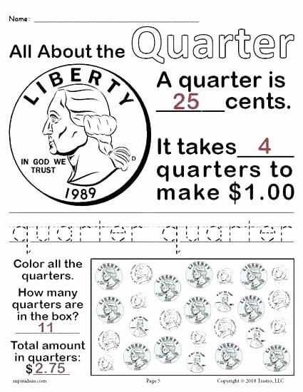 Free Counting Coins Worksheets Fresh Coin Worksheets Kindergarten