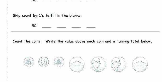 Free Counting Coins Worksheets Unique Free Identifying Coins Worksheets Free Coin Worksheets Free