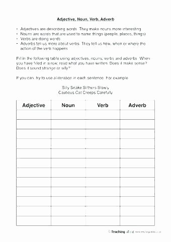 Free Cut and Paste Worksheets Inspirational Free Printable Adjective Adverb sort Worksheet 2 Cut Paste