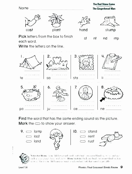 Free Ending sounds Worksheets Consonant sounds Worksheets