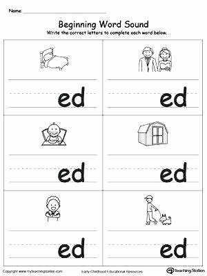 Free Ending sounds Worksheets Ed Ending sounds Worksheets