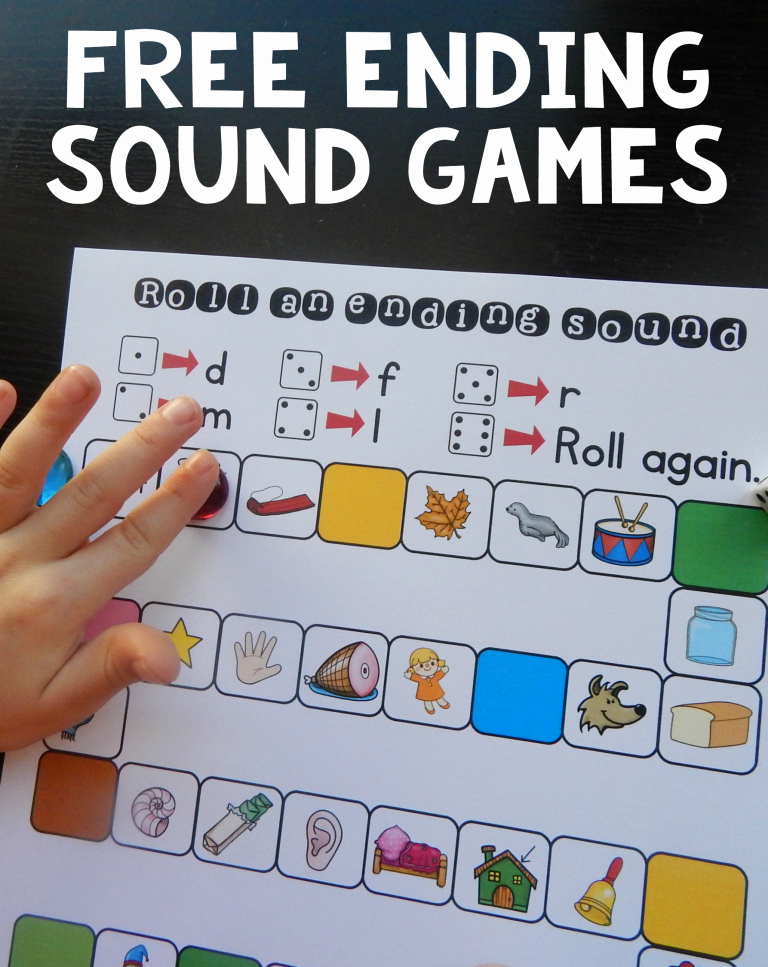 Free Ending sounds Worksheets Free No Prep Ending sound Games