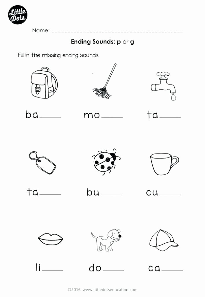Free Ending sounds Worksheets Letter M Worksheets for Kindergarten Alphabet Printable P Works